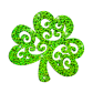 Shiny St.Patrick's Day Green Tree Iron on Holofoil Transfer Decal