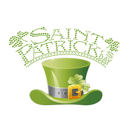 Manufacturers Top Hat Hotfix Pattern for Saint Patricks Day