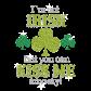Stock I am Not Irish Rhinestone Iron Ons