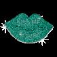 Sale Glitter Green Lip Rhinestone Transfers
