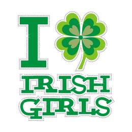 Bulk Graphic I Irish Girls Rhinestone Vinyl Transfer