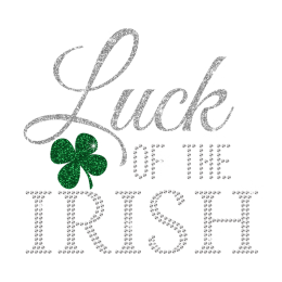 Wholesale Glitter Luck of The Irish Rhinestone Motif