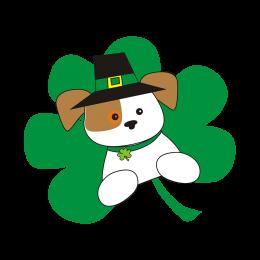 Stock Saint Patricks Dog Vinyl Transfer