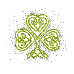 Wholesale Graphic Shamrock Rhinestone Decal