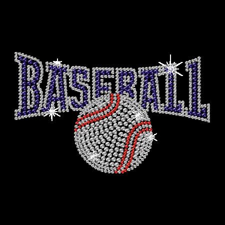 Shining Baseball Rhinestone Iron ons