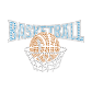 Shining Basketball Hotfix Rhinestone Transfer