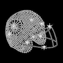 Crystal Football Helmet Strass Iron on Design for t shirt