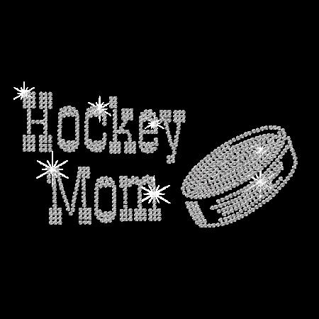 Hotfix Crystal Ice Hockey Mom Rhinestone Pattern