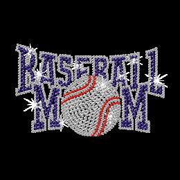 Iron on Rhinestone Baseball Mom Transfer Design