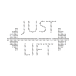 Crystal Just Life Iron on Rhinestone Transfer Motif