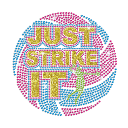Just Strike It Iron on Rhinestone Transfer Decal