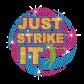 Just Strike It Iron on Rhinestone Transfer Decal