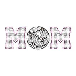 Strass Soccer Mom Iron On Motif for t shirt