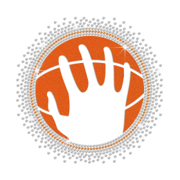 Personalized Holding Basketball Iron on Flock Rhinestud Transfer Decal