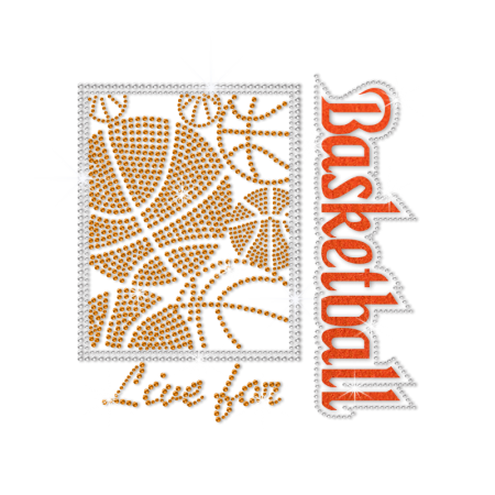ISS Live for Basketball Rhinestone Decal