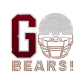 ISS G Bears Football Rhinestone Decal