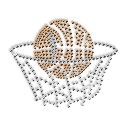 Diamante Hotfix Basketball Custom Design
