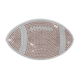 Rhinestud Football Pattern Custom Hotfix Motif