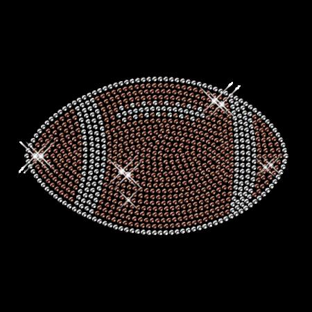 Rhinestud Football Pattern Custom Hotfix Motif