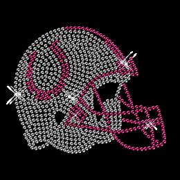 Crystal Iron on Football Helmet Design for Clothes