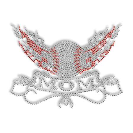 Rhinestone Baseball Mom Design Custom Transfer