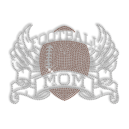 Dazzling Football Mom Hotfix Crystal Pattern for Tee Shirt