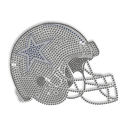 Rhinestud Hotfix Helmet Sports Motif Design