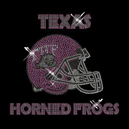 Team Logo Custom Football Helmet Rhinestone Pattern Iron ons