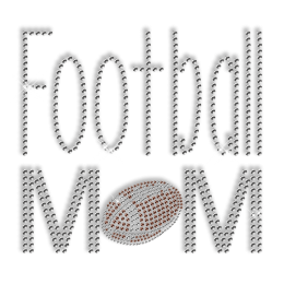 Sports Mom Design Rhinestone Bling Iron on Motif