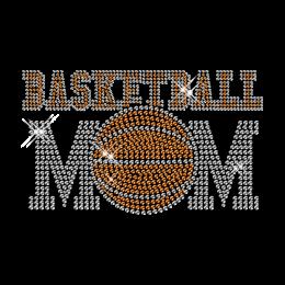 Classic Iron on Design Basketball Mom Rhinestone Pattern