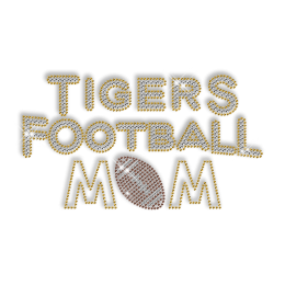 Custom Football Mom Rhinestone Hotfix Design with Team Logo