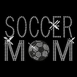 Soccer Mom Pattern Hotfix Custom Rhinestone Transfer