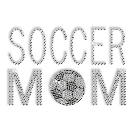 Soccer Mom Pattern Hotfix Custom Rhinestone Transfer
