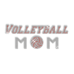 Volleyball Mom Crystal Iron on  Motif for T shirt