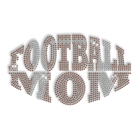 Custom Best Sparkle Football Mom Rhinestone Iron on Transfer Design for Shirts