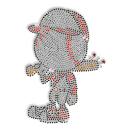 Custom Sparkling Cute Baseball Boy Iron on Transfer Design for Shirts
