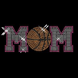 Custom Cool Sparkling Basketball Mom Diamante Iron on Transfer Pattern for Shirts