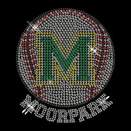 Custom Cool Sparkling Moorpark Baseball Diamante Iron on Transfer Design for Shirts
