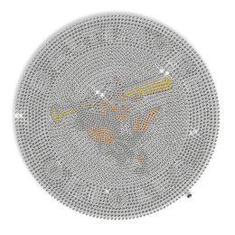 Custom Cool Sparkling Baltimore Orioles Diamante Iron on Transfer Motif for Shirts