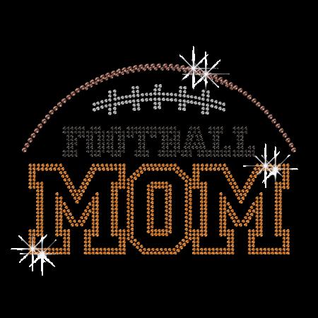 Football Mom Crystal Iron ons for Shirts