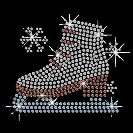 Shining Skating Shoes Hotfix Sequin Design for Garments