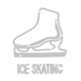 Shining Crystal Ice Skating Shoe Hotfix Rhinestone Design