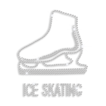 Shining Crystal Ice Skating Shoe Hotfix Rhinestone Design