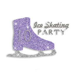 Shining Ice Skating Shoe Hotfix Bling Design