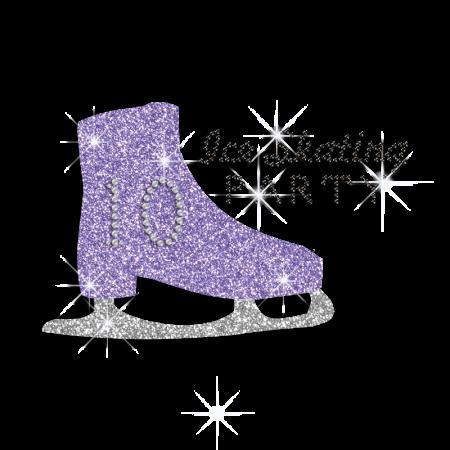 Shining Ice Skating Shoe Hotfix Bling Design