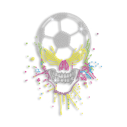 Personalized Soccer Ball and Skull Bling Iron ons