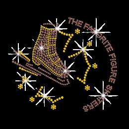 Custom The Favorite Figure Skating Iron on Rhinestone Transfer