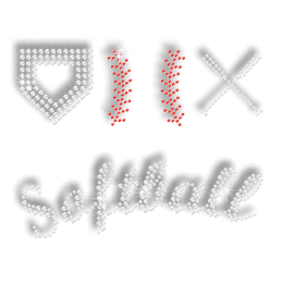 Bling Softball Kit Hot-fix Rhinestone Transfer