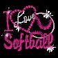 Softball Pink Queen Nailhead Crystal Hotfix Transfer Design