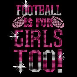 Pretty Football Feminist Iron on Diamante Motif